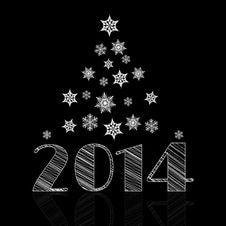 Minimal Happy New Year Background Royalty Free Stock Photography