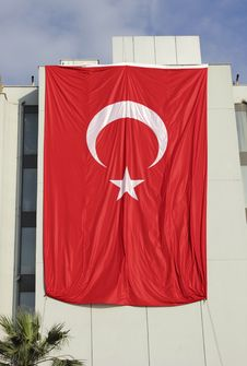 Free Giant  Turkey Flag Royalty Free Stock Images - 31659789