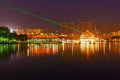 Free The Laser Lake Water_night_landscape_xian Stock Images - 31663774