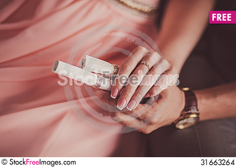 Free Close Up Groom Put The Wedding Ring On Bride Stock Images - 31663264