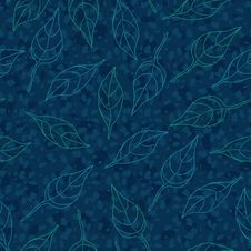 Free Vector Seamless Pattern With Leaves Royalty Free Stock Image - 31663706