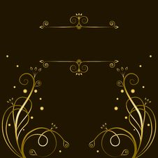 Free Decorative Gold  Tracery With Frame For Text Royalty Free Stock Photos - 31665248