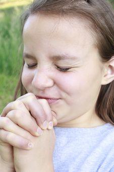 Free Girl Praying Hard Royalty Free Stock Photos - 31665748