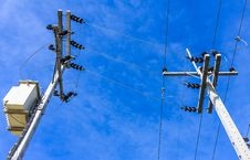 Free Electric Pole Royalty Free Stock Photo - 31665845