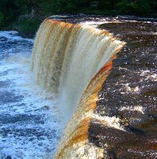Free Scenic Michigan Waterfall Royalty Free Stock Photo - 31671525