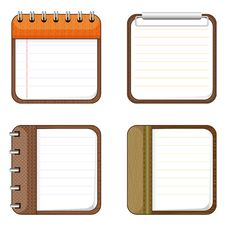 Free Four Icons Of Notepads Stock Photography - 31675752