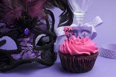 Free Purple Masquerade Party Decorations - Close Up Royalty Free Stock Photos - 31678238