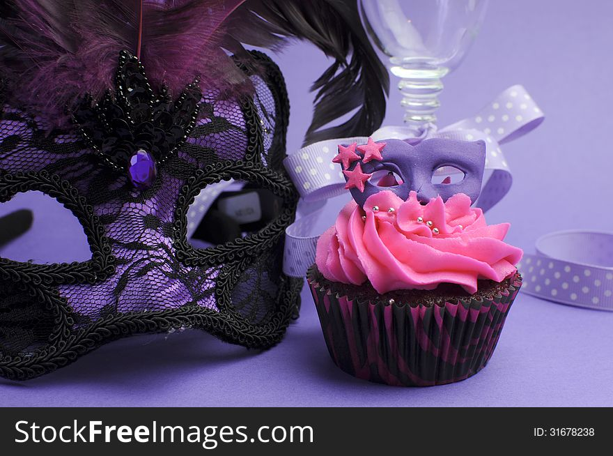 6790b32d1f7a Purple Masquerade Party Decorations - Close Up - Free Stock Images ...