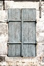 Free Wooden Shutters, Old Window In Stone Wall Royalty Free Stock Image - 31689096