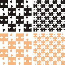Free Pattern With Puzzle Royalty Free Stock Photos - 31683698