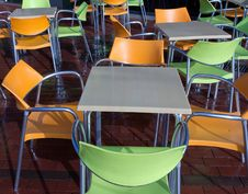 Free Cafe Chair Tables Royalty Free Stock Image - 31687536