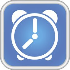 Icon, The Clock, The Symbol. Royalty Free Stock Image
