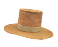 Free Old High-top Straw Hat Isolated. Royalty Free Stock Photography - 31694827