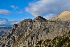 Gray Kotor Bay Mountains Royalty Free Stock Photos