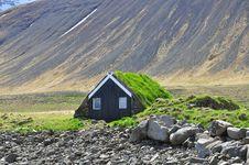 Free Icelandic Turf House Stock Image - 31694511