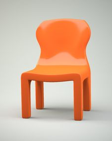 Free Orange Cartoon-syled Chair Stock Images - 31696044