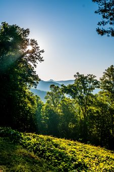 Blue Ridge Parkway Early Morning Royalty Free Stock Image