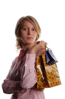 Free Women With Shopping Bags Stock Photography - 3170022