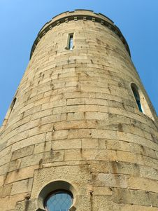 Stone Tower Of Old Castle Stock Image