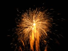 Free Golden Pyrotechnics Royalty Free Stock Image - 3170816
