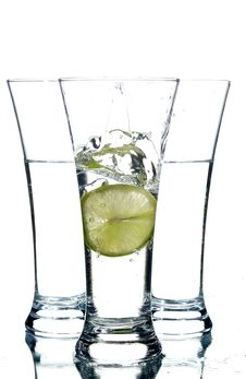 Free Glasses With Water And Lemon Stock Image - 3171351