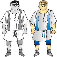 Free Men With Tunic Royalty Free Stock Images - 3171389