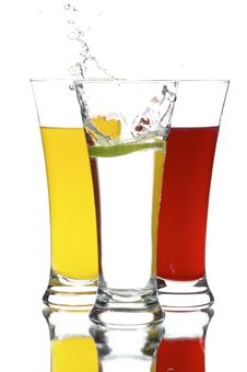 Free Glasses With Juice And Lime Stock Images - 3171694