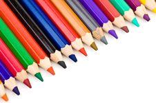 Free Colored Pencil Crayon Diagonal Royalty Free Stock Photography - 3172357