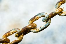 Free Rusty Chain Links Royalty Free Stock Photography - 3172397