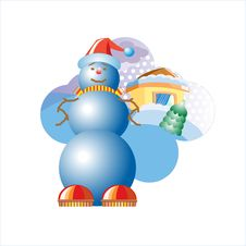 Free Illustration. Snowball. Royalty Free Stock Image - 3173146