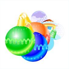 Free Illustration. Christmas Balls. Stock Photography - 3173182