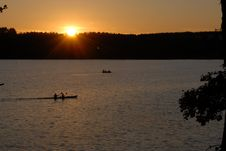 Free Sunset Over The Radunskie Lake Stock Photography - 3173452
