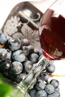 Free Glass Red Wine And Grape Stock Images - 3173674