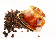 Free Cup Of Coffee With Coffee Bean Stock Photos - 3173693