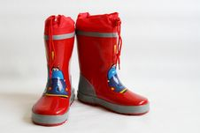 Free Red Wellington Boots Royalty Free Stock Images - 3174219