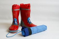 Free Red Wellington Boots Royalty Free Stock Photo - 3174235
