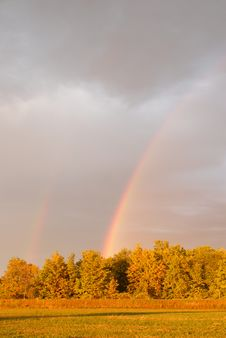 Free Double Rainbow Royalty Free Stock Photos - 3174278