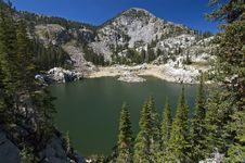 Lake In Wasatch Mountains Stock Image