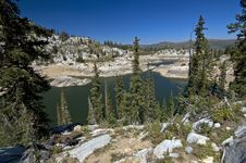 Lake In Wasatch Mountains Stock Images