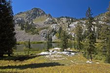 Lake In Wasatch Mountains Royalty Free Stock Photography