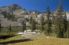 Lake In Wasatch Mountains Royalty Free Stock Photos