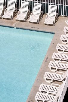 Free Chairs At Poolside Stock Images - 3175144