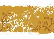 Free Bronze Flowers Background Royalty Free Stock Images - 3175709