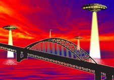 Free Ufo On Bridge Royalty Free Stock Photography - 3176037