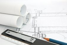 Free Design Draft Papers Stock Photography - 3176122