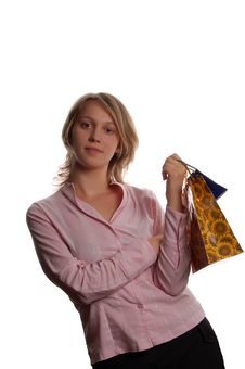 Free Women With Shopping Bags Stock Image - 3176161