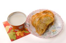 Free Toast And Milk Royalty Free Stock Photo - 3177655