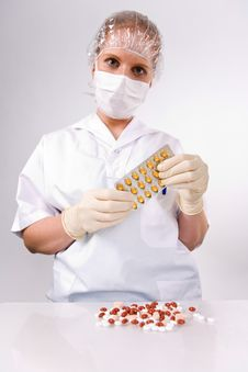 Free Pills From Manufacturing Stock Photography - 3178642
