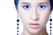 Free Looking Beauty Blue Royalty Free Stock Photo - 3179585