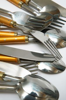 Spoons, Plugs And Knifes Stock Photography